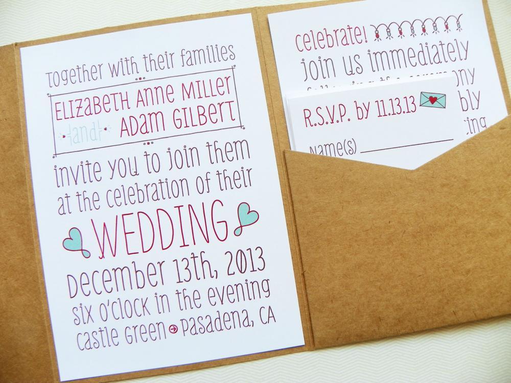 Wedding Pocketfold Invitations: Pocketfold Wedding Invitations